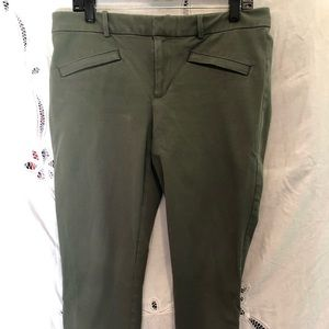 Gap skinny ankle pants 14R olive